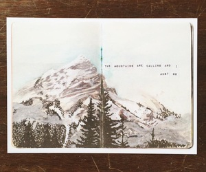 mountains, sketchbook, and winter image