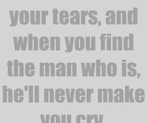 man and tears image