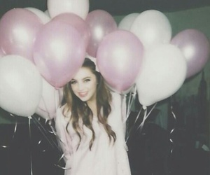girl, balloons, and grunge image