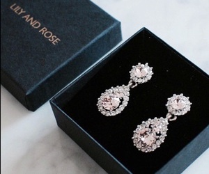 earrings, luxury, and jewelry image
