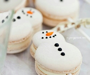 snowman, food, and christmas image