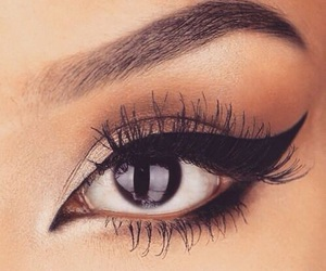 eyeliner on fleek and 😉 image