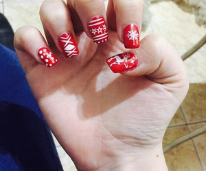 nails, loveit, and merrychristmas image