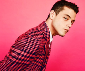 mr robot, rami malek, and pink image