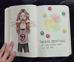 drawing, wreck this journal, and art image