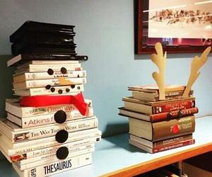 book, christmas, and snowman image
