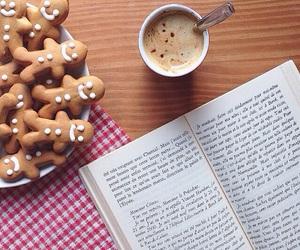 book, chocolate, and christmas image