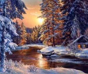 forest, river, and magic image