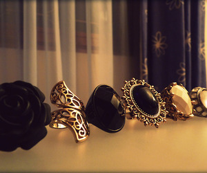 rings, black, and ring image