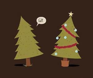 gay, christmas, and tree image