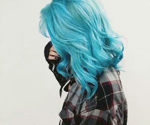 blue, hair, and hairstyle image