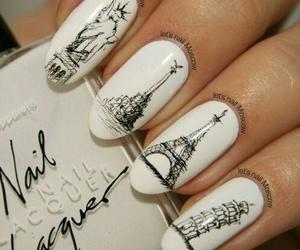 nails, paris, and white image
