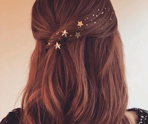hair, stars, and hairstyle image