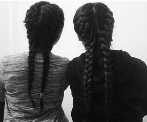 and, black, and braids image