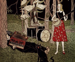 Accordeon, band, and demons image