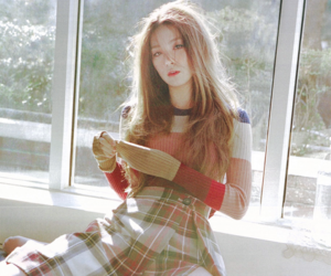 beauty, red velvet, and fashion image