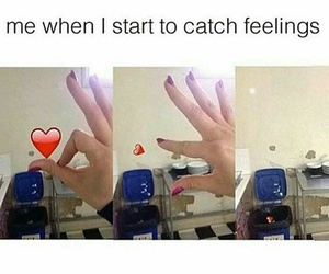 love, funny, and feelings image