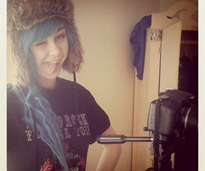 blue hair, Suicide Girls, and photo image