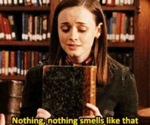 book, smell, and love image