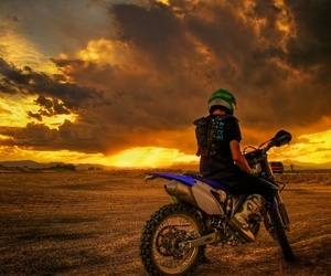 sunset, Motor, and motorcycle image