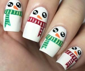 christmas, nails, and snowman image