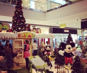 christmas tree, happy new year, and mall image