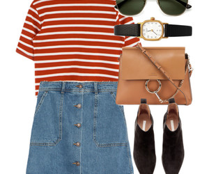 Polyvore, stripes, and summer image