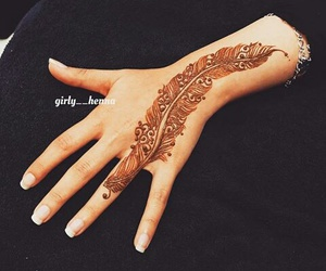feather and henna image