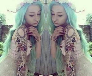 tattoo, hair, and alternative image