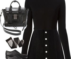 black, oxfords, and Polyvore image