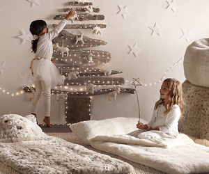 christmas, girls, and tree image