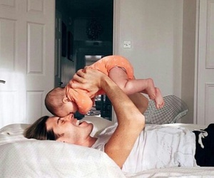 baby, morning, and daddy image