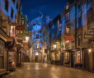 harry potter, diagon alley, and diagon ally image