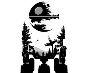 death star, mash up, and fan art image
