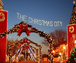 christmas, light, and city image