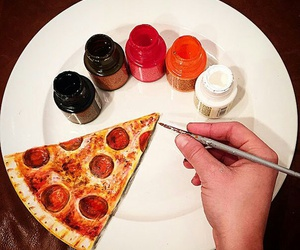 pizza, art, and drawing image