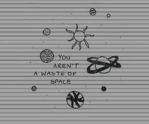 space, quotes, and grunge image