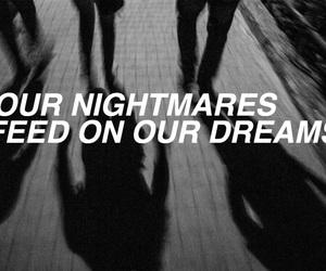 black, Dream, and nightmare image