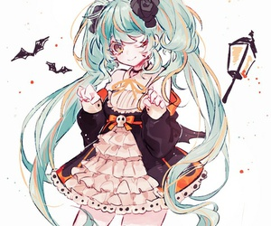 vocaloid, Halloween, and anime image
