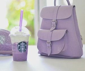starbucks, purple, and bag image