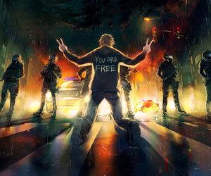 garcon, police, and liberte image