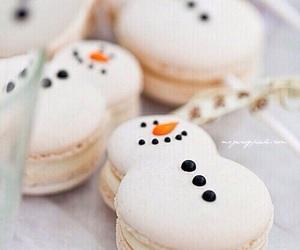 snowman, food, and christmas image