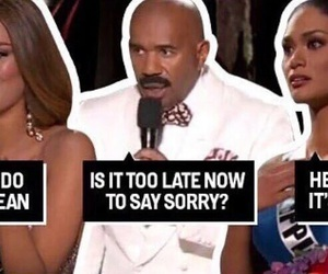 funny, miss universe, and what do you mean image