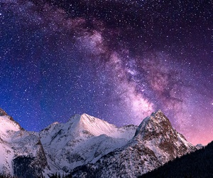 mountains and night image