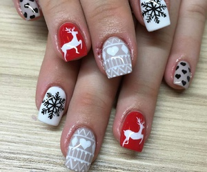 nails, winter, and love image