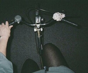 grunge, bike, and night image