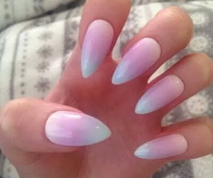 nails, ombre, and pink image