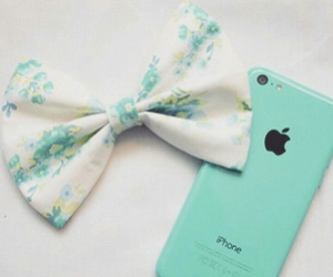iphone, blue, and bow image