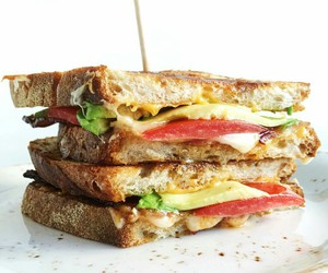 cheese, toast, and food image