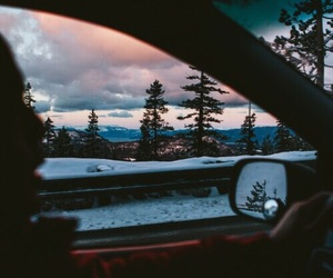 car, nature, and sky image